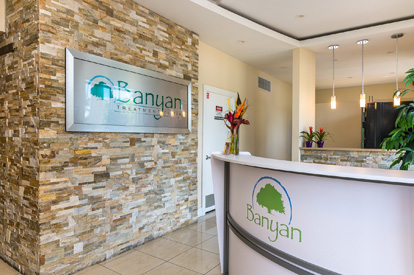 Banyan Treatment Center Pompano Reception Area